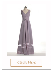 lavendar v-neck long country rustic bridesmaid dresses