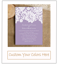mauve purple lace vintage wedding invitation cards for 2015 trends EWI335