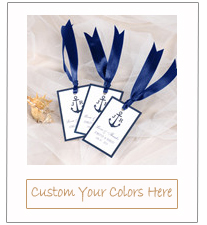 navy blue nautical beach wedding favor tags with ribbon for 2015
