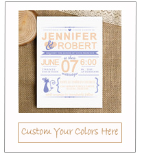 periwinkle and peach simple wedding invitations for 2015 EWI334