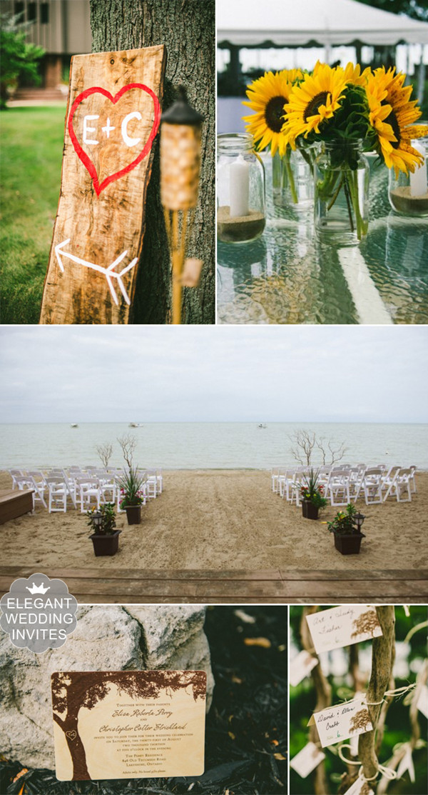rustic beach summer wedding venue setting ideas for 2014 and 2015