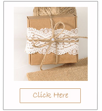 rustic chic lace and burlap affordable wedding favor boxes