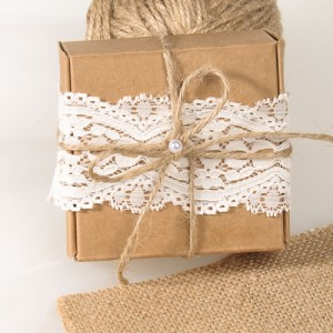 lace kraft rustic wedding favor box 2015
