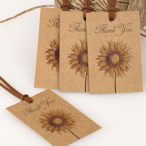 Rustic Sunflower Favor Tags