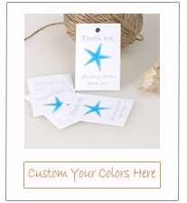 seaside blue beach starfish wedding favor tags for 2015
