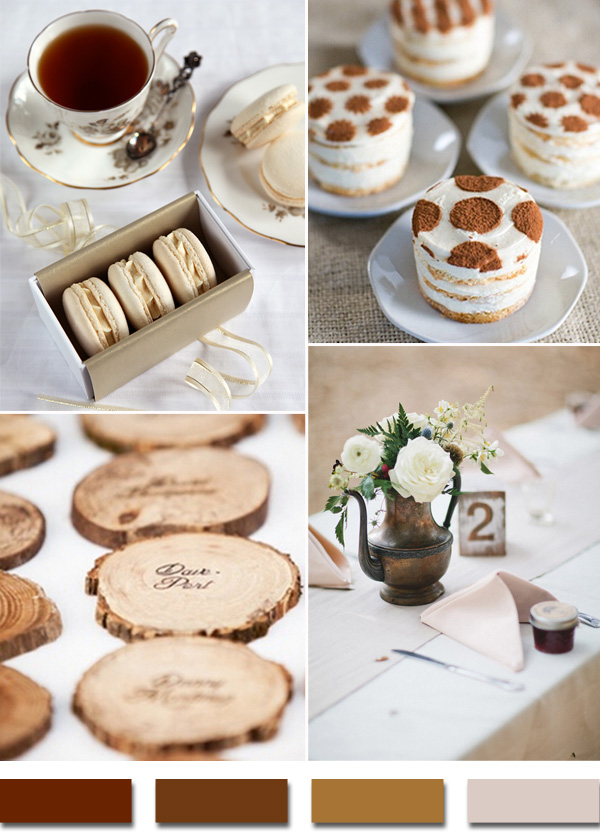 shades of brown 2015 rustic wedding color trends