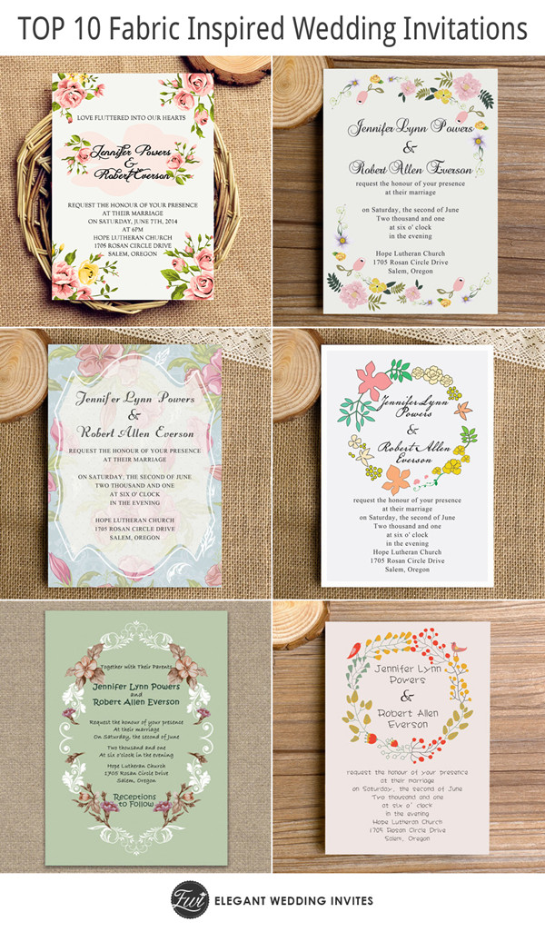 top 10 fabric inspired floral wedding invitations as low as $0.94