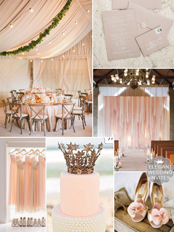 trending blush wedding color tent rustic wedding ideas