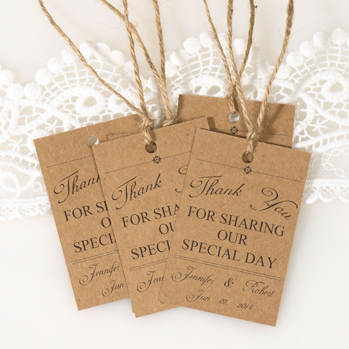 Country Rustic Fall Wedding Favor Tags