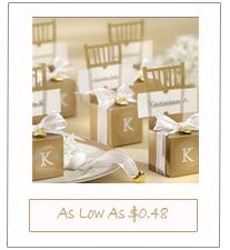 Gold Chair Heart Place Card Holders and Wedding Favor Boxes