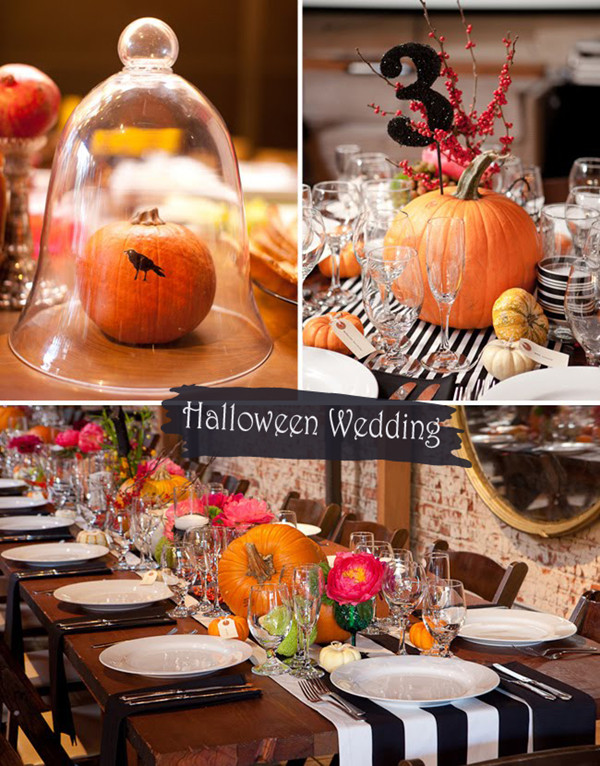 Pumpkin Inspired Orange and Black Rustic Halloween Wedding Ideas