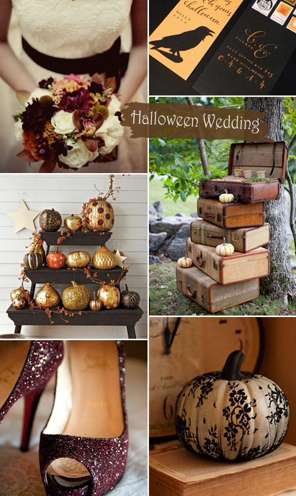 Pumpkin Inspired Rustic Halloween Themed Fall Wedding Ideas