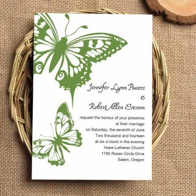 Butterfly Themed Wedding Invitations