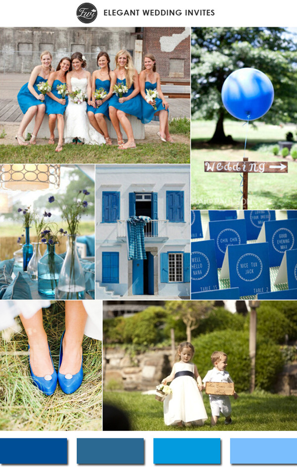 classic blue wedding color ideas for 2015 spring wedding trends