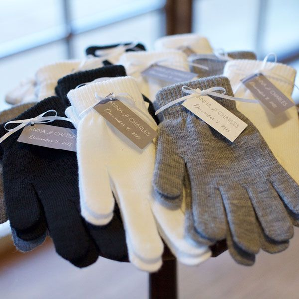 gloves top 10 winter wedding favors