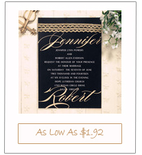 gold and black elegant lace wedding invitation cards