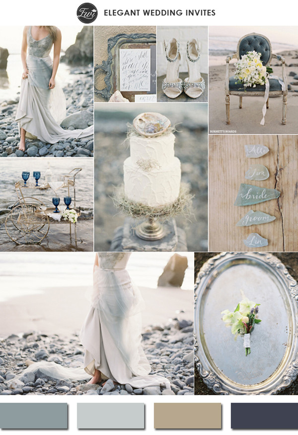 neutral colors glacier gray 2015 spring wedding color trends