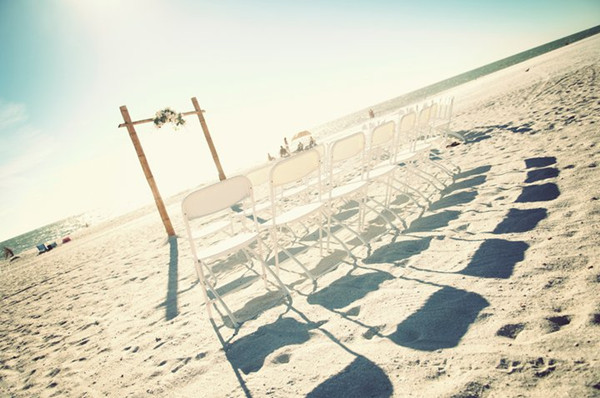 rustic chic beach themed intimate small wedding ideas