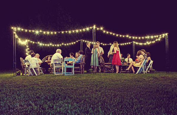 seating ideas for a country rustic evening intimate wedding