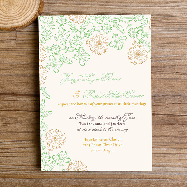 Spring Boho Wedding Invites
