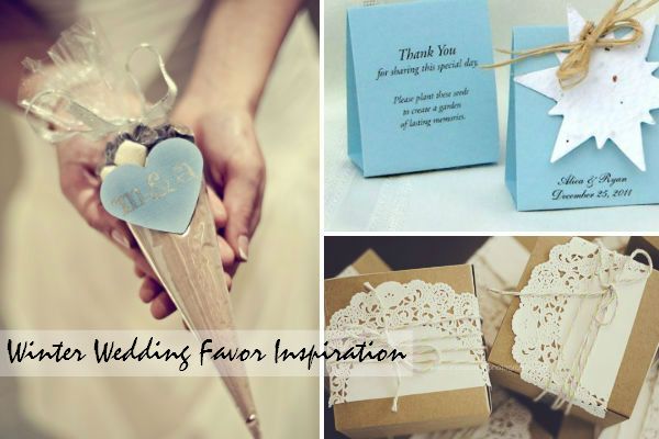 winter wedding inspiration favor boxes and bags 2014