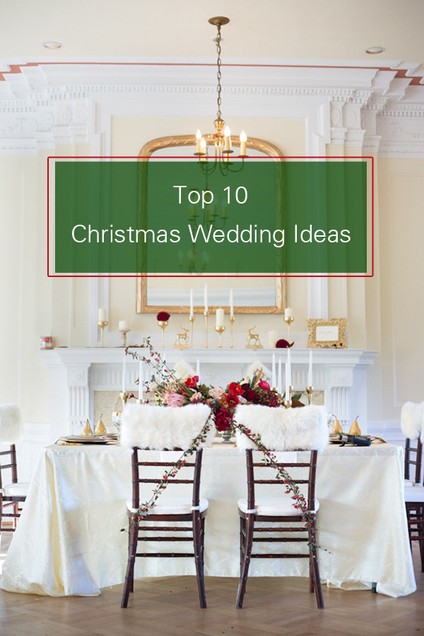 christmas inspired winter wedding ideas for 2015 trends