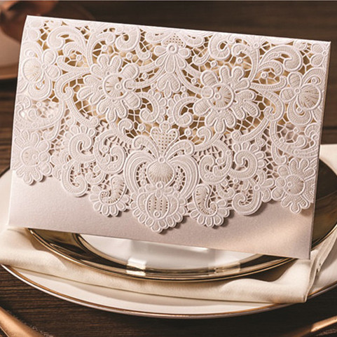 Elegant Vintage Lace Wedding Cards