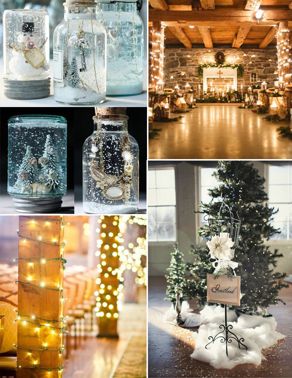 Gorgeous Winter Decorations For 2015 Christmas Wedding Ideas