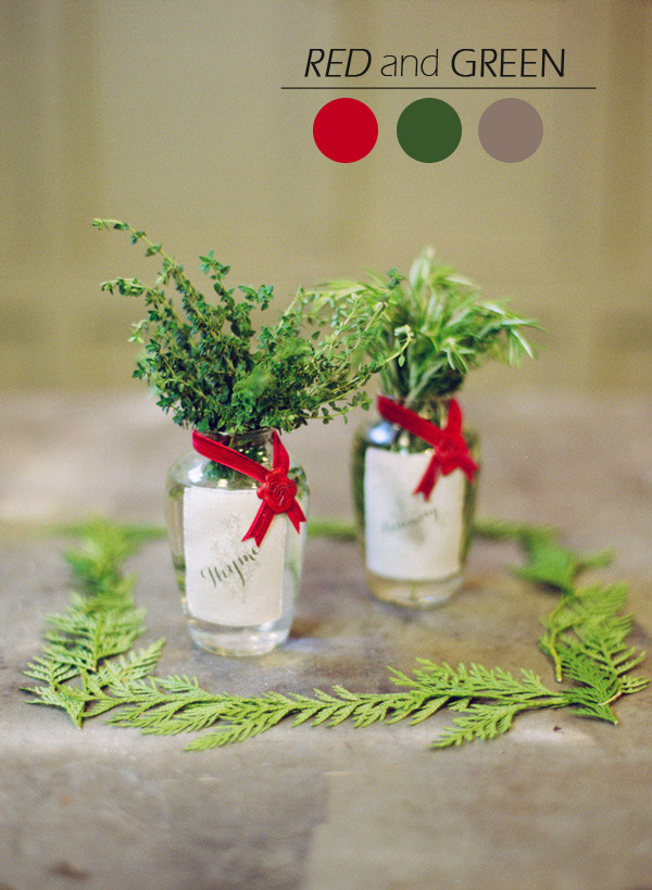red and green christmas wedding ideas for 2015 winter
