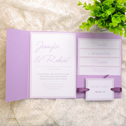 Elegant Lavender Wedding Invitation Kits