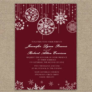 fabulous 2015 christmas wedding ideas and invitations, Wedding invitations