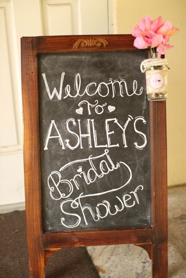 wooden frame chalkboard vintage bridal shower signs
