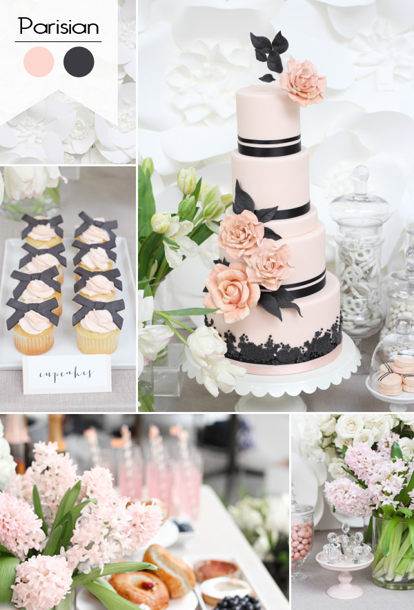 2015 trending pink and black parisian themed bridal shower ideas