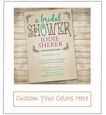 country rustic winery bridal shower invitation cards 2015 trends