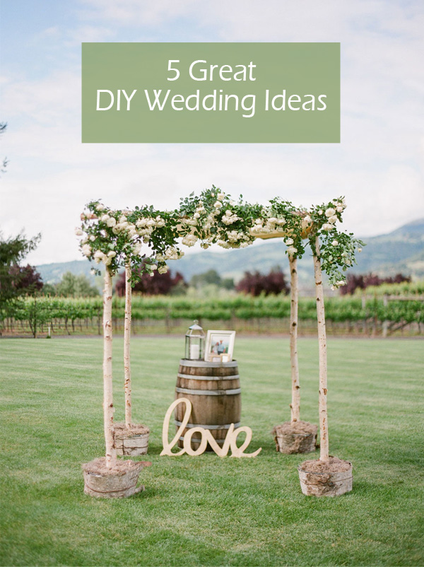 5 Original Stress Free Diy Wedding Ideas Including