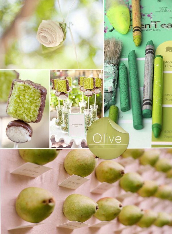 fresh olive green wedding color ideas 2015 trends