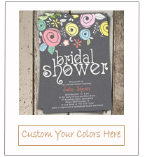 pastel colors inspired chic bridal shower invitations