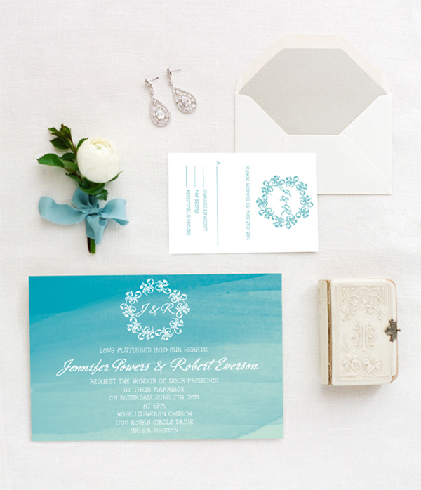shades of blue beach wedding invitations 2015 trends EWI373