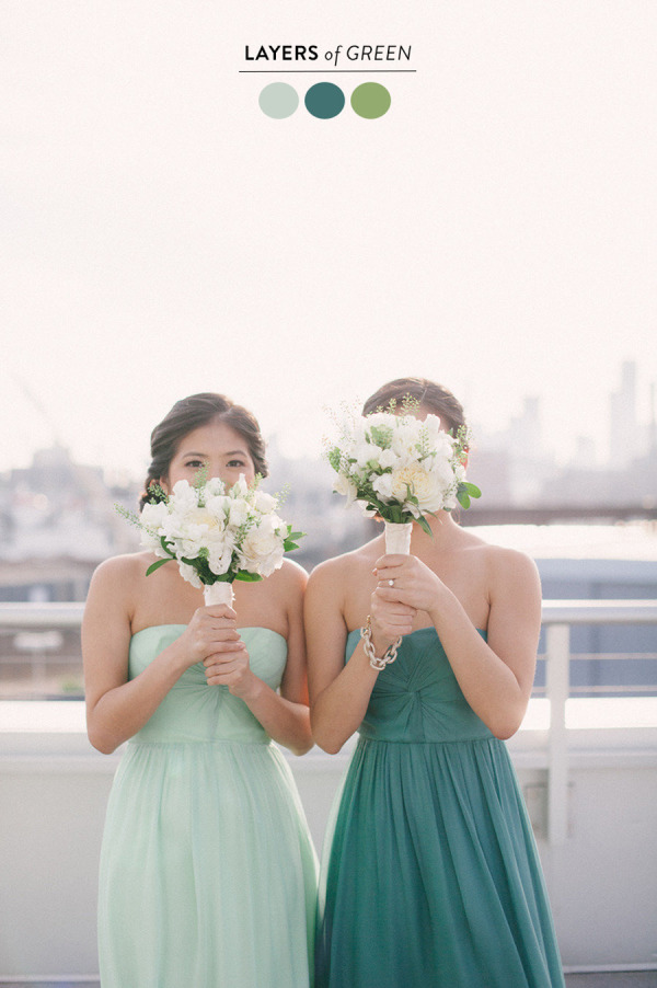 shades of green wedding color ideas 2015 trends