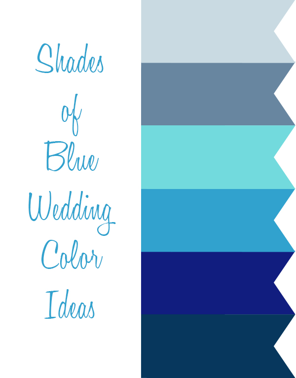 6 shades of blue wedding color ideas for 2015 trends