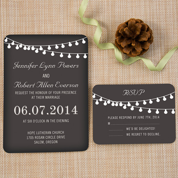 Backyard Chalkboard Wedding Invites