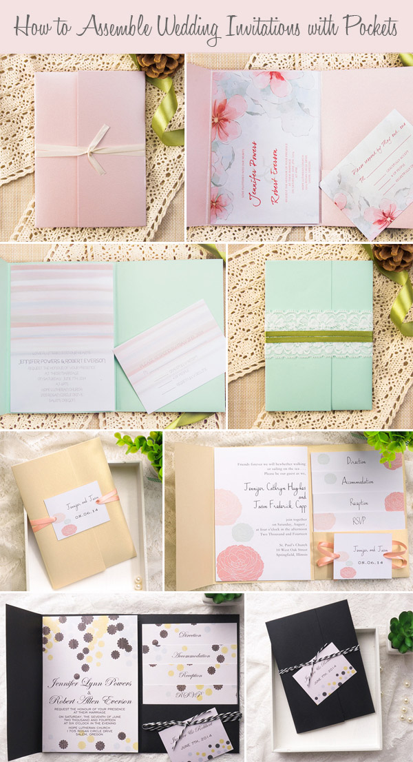 Emble Your Wedding Invitations With Pockets For 2017 Ideas