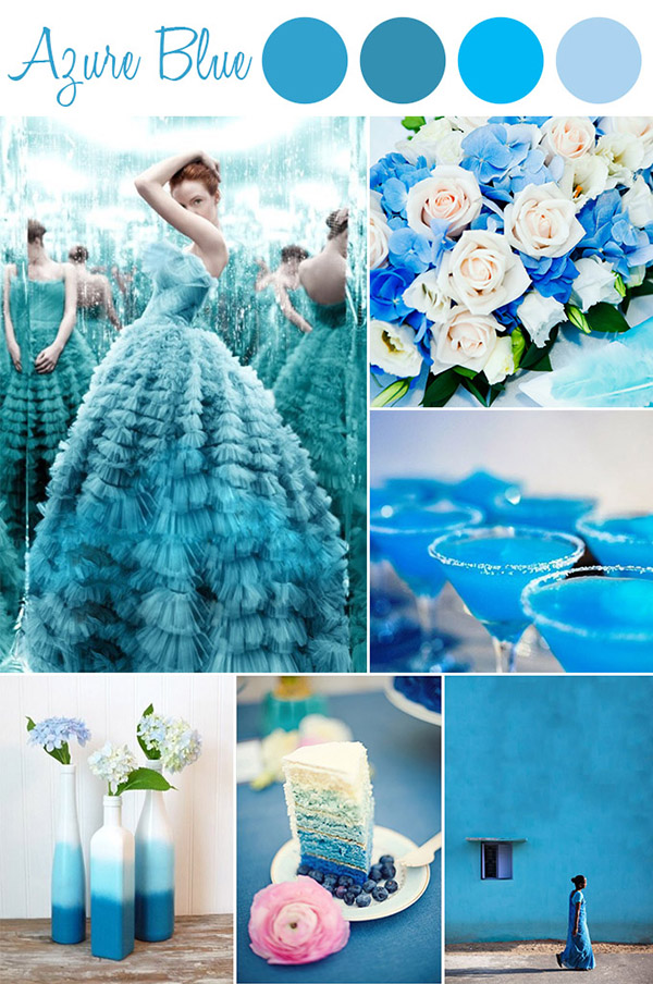 azure blue inspired wedding color ideas 2015 trends