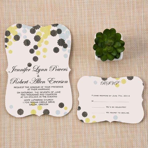 Boho Wedding Invitation Cards