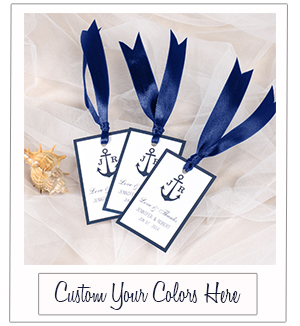 navy blue nautical wedding favor tags