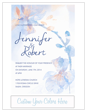 powder blue and peach watercolor wedding invitations EWI376