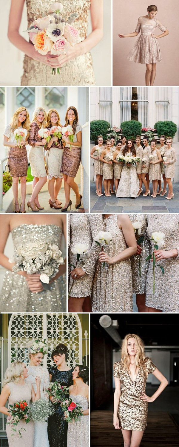 Sequins Bridesmaid Dresses For New Years Eve Wedding Ideas