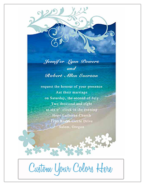 shades of blue beach wedding invitations EWI038