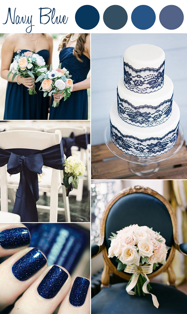 shades of navy blue wedding color ideas