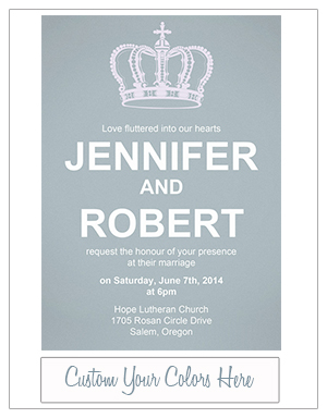 simple and elegant dusty blue wedding invites EWI385